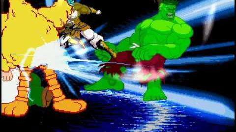 MUGEN Big Bird and Hulk vs Nightmare Broly and Peter Griffin