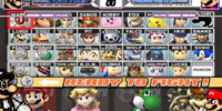 Super Smash Bros. Brawl Fighter Select Screen