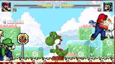 Mugen Mario and Yoshi vs Luigi and Toad