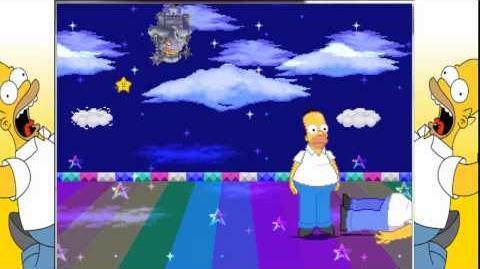 MUGEN RedMoon Homer Simpson(new) vs Homer Simpson(old)