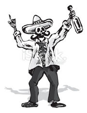 Stock-illustration-3071675-drunk-mexican-skull-character