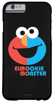 Zazzle elmo and cookie half face