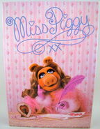 Milton bradley 1980 puzzle miss piggy writing
