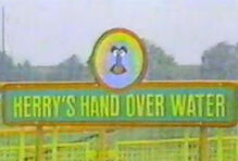 Herrys hand over water