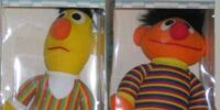 Bert and Ernie soft dolls (Playskool)