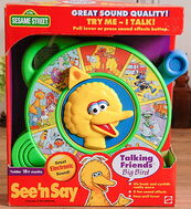 Mattel see 'n say talking friends big bird 1998