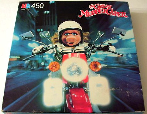 File:Milton bradley 1981 great muppet caper piggy motorcycle jigsaw puzzle.jpg