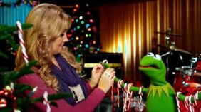Candy Canes on Kermit