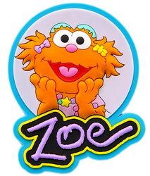 Sesame place magnet zoe