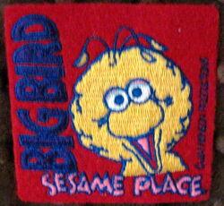Sesame place patch big bird face