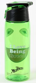 Kermit green water bottle 2