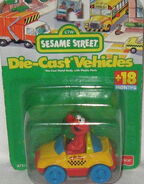 Fisher-price 1996 die-cast elmo taxi
