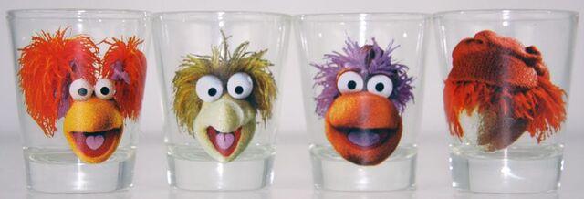 File:Fraggle Rock Four 4Pack Shot Glass Set from Spencer's.jpg