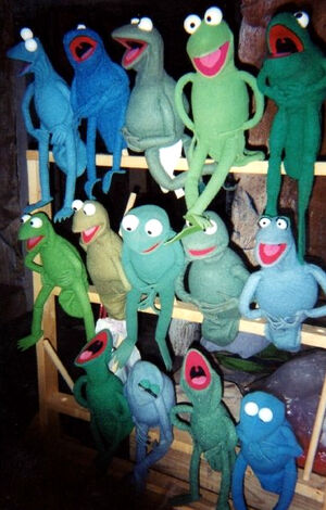 Muppet frogs