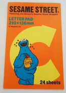 Sony creative products letter pad cookie monster