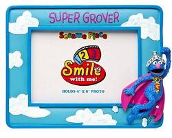 Sesame place frame super grover