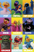 Sesame music styles poster