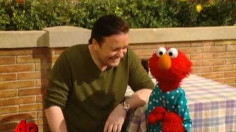 Gervais Elmo = Hilarity on 'Sesame Street'