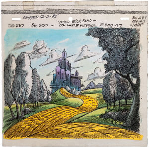 Mb animation cell yellow brick road