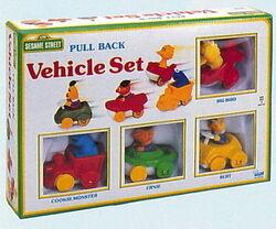 1 illco 1992 pull back vehicle set