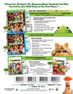 The Muppets DVD Sell Sheet (page 2)