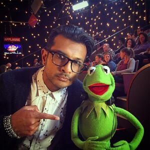 Utkarsh Ambudkar and Kermit