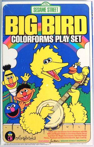 Colorforms 1986 big bird playset