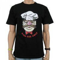 Logoshirt-TheSwedishChef-KissTheChef-T-Shirt-black