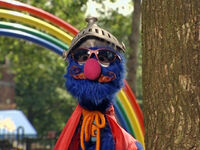 Super Grover mustache What's Name Song DVD