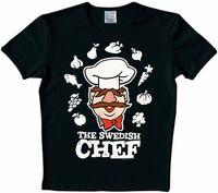 Logoshirt-TheSwedishChef-T-Shirt-black