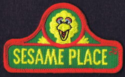 Sesame place patch sign