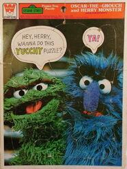 Vintage-Sesame-Street-Frame-Tray-Puzzle-Oscar-The