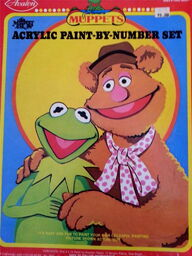 Avalon 1976 muppet show paint by number set 3