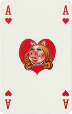 1978 playing cards Ace Hearts