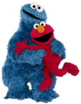 Cookie Monster-Elmo