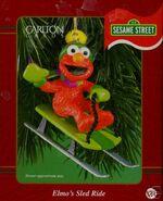 Elmo sled orn