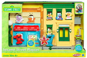 Sesame street playset hasbro 1