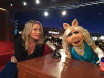 Christina Applegate and Miss Piggy