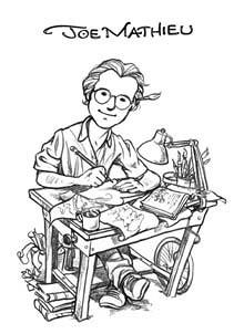 Self illustration of Joe Mathieu