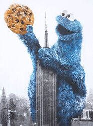 Cookie monster - empire state building