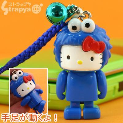 File:Strapya 2011 mascot hello kitty plastic small cookie monster japan.jpg