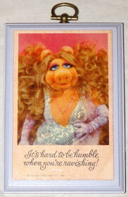 Hallmark plaque hard to be humble 1980