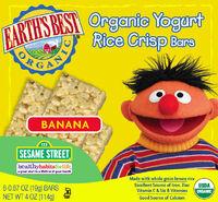 Yogurt Rice Crisp Cereal Bars - Banana
