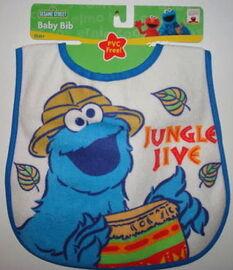 Hamco bib cookie monster jungle jive