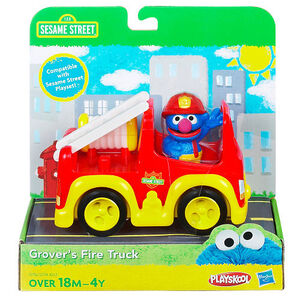 Grover's fire truck hasbro 1