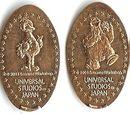 Sesame Street pressed pennies (Universal Studios Japan)