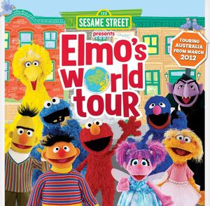 Elmo's World Tour PR graphic