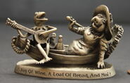 Pewter kermit piggy boat