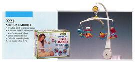Illco 1992 baby toys musical crib mobile