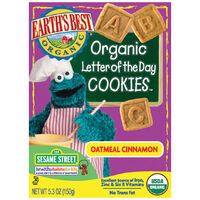 Oatmeal Cinnamon Organic Letter of the Day Cookies